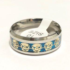 Skulls Ring, Size 10